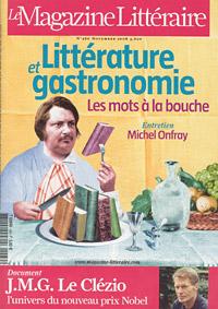 Couverture du Magazine littéraire de novembre 2008