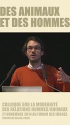 """Intervention Michael Bruckert colloque Ocha """"Des animaux et des hommes"""""""